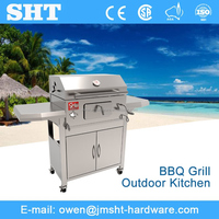 Professional factory wholesale outdoor charcoal barbeque grill unit