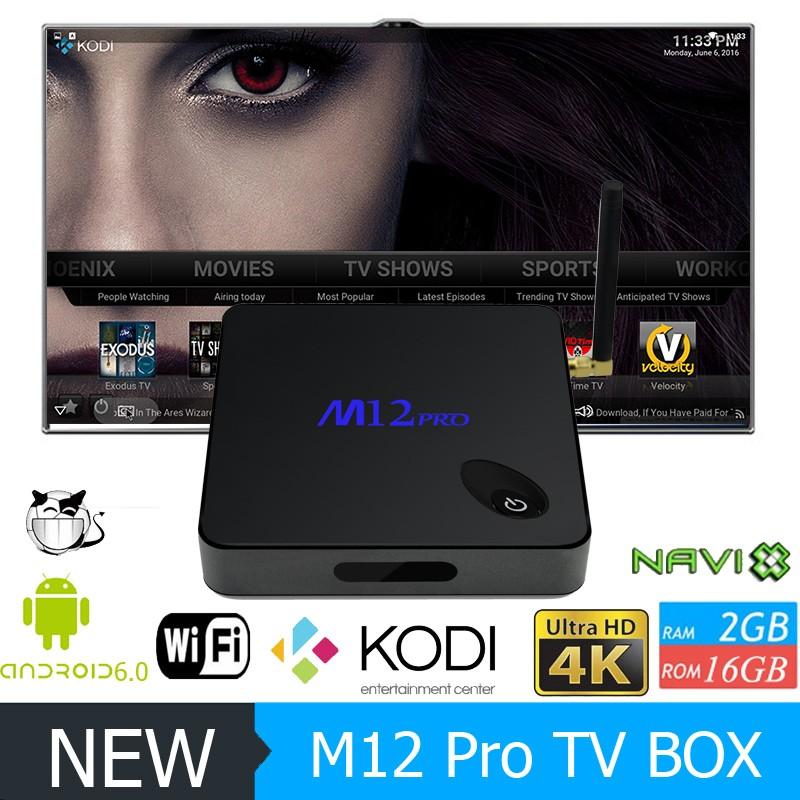 Factory Smart TV Box M12 PRO Amlogic S912 Android 6.0 tv Box 2GB 16GB S912 Octa Core TV Box M12 Pro