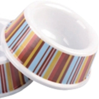 Round cheap plastic pet feeder melamine dog bowl