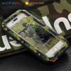 heavy duty military army green shockproof metal mobile phone case for iphone