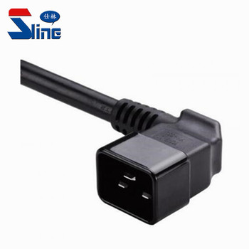 Right Angle IEC320 C20 Power Cord Plug with UL and VDE certificate