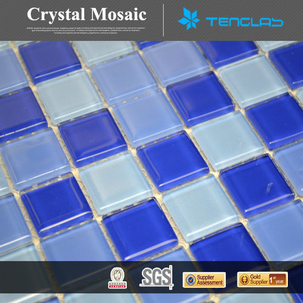 light blue durable natural swimming pool mosaic