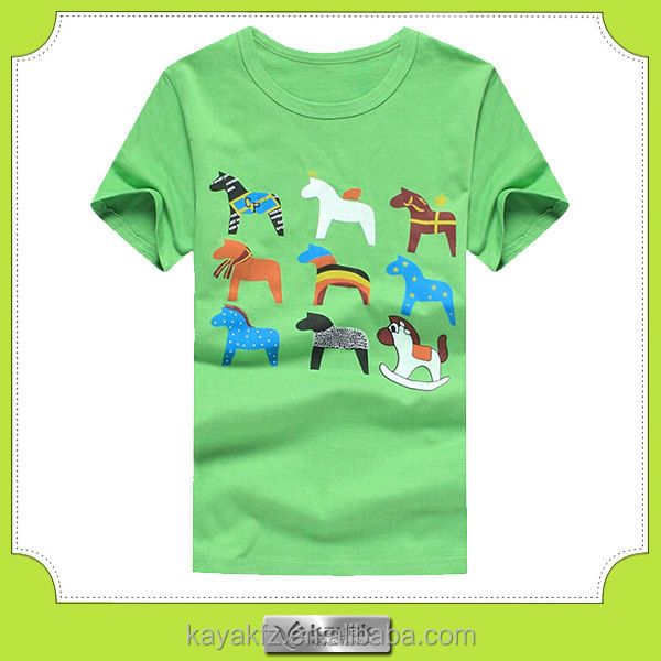 100% cotton high quality combed cotton children t shirt printed