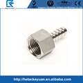 stainless steel homebrew fitting 1/2 FPT X 3/8 Hose Barb