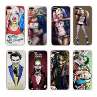 Hot Selling Custom design OEM Suicide Squad clear soft tpu silicone phone case for iphone 5 5s 6 6s 7 8 X plus Shell Cover