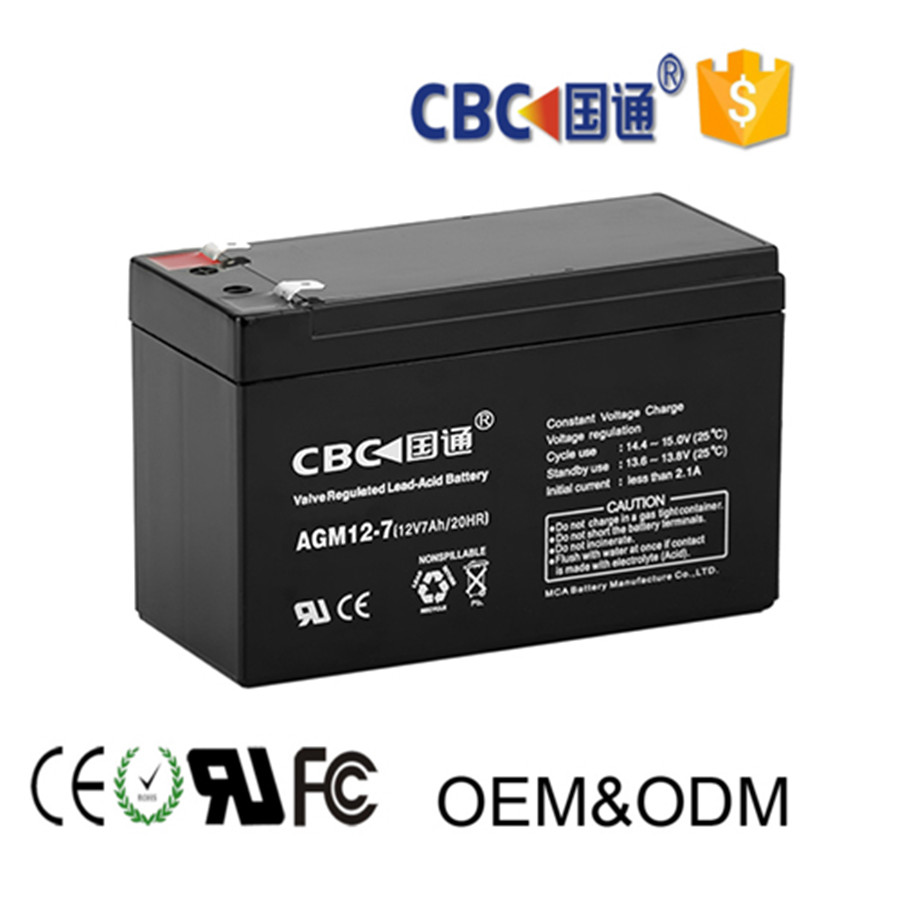 CBC Guotong 12V 7AH Lead Acid Solar Ups Rechargeable Battery for Solar Power System