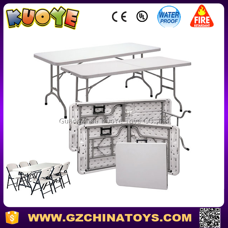 White Outdoor Rectangular Tables Plastic Commercial Grade Folding Table