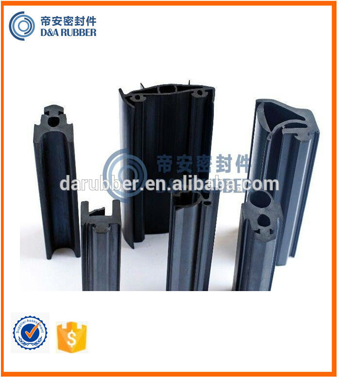 solid rubber extrusion screen capping rubber