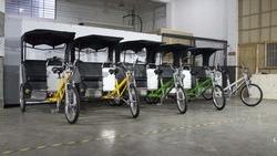 shimano electric adult rickshaw tricycle