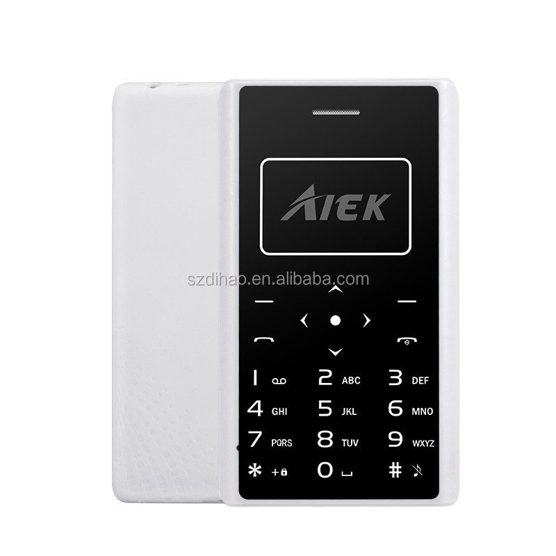 Real low price 2017 new brands world cheapest mobiles Aiek X7 Card mini Mobile Phone