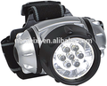 high quality ultra bright fishing hunting headlight 3AAA battery 7 LED Headlamp