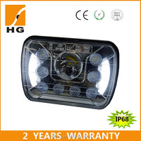7x6 led headlights chrome dot led headlights led sealed beam