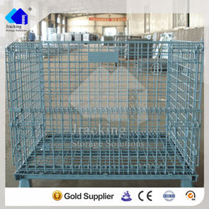 Steel Storage Cage with Wheels
