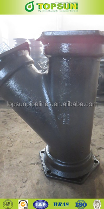 ductile iron mechnical joint 45 degree laterals fitting according to AWWA C153