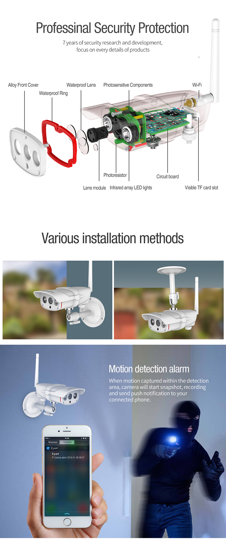 Vstarcam Home automation Cloud night vision outdoor IP67 1080P wireless ip camera security system