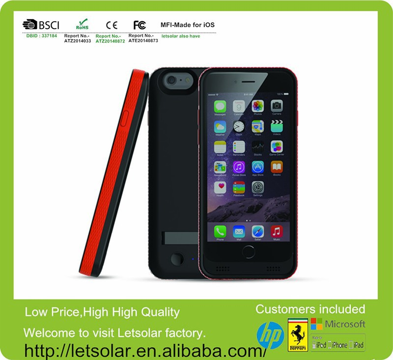 China Manufacture Directly Supply battery case for iPhone 6,mobile phone case for iPhone 6