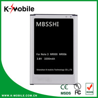 3200mAh OEM Mobile Phone Battery For Samsung Galaxy Note 3 Battery N9000 Battery