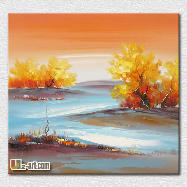 Best beautiful abstract landscapes paintings for office room wall <strong>decoration</strong>