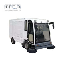S2000 Famous Mini Road Sweeper Truck 3000 liters Off Road Truck Suction Sweeping Vehicles