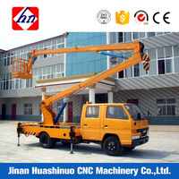 14m 200kg spider trailer mounted boom lift