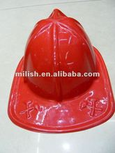 Red Promotion Plastic Fireman Hat/PVC fire hat MH-1108