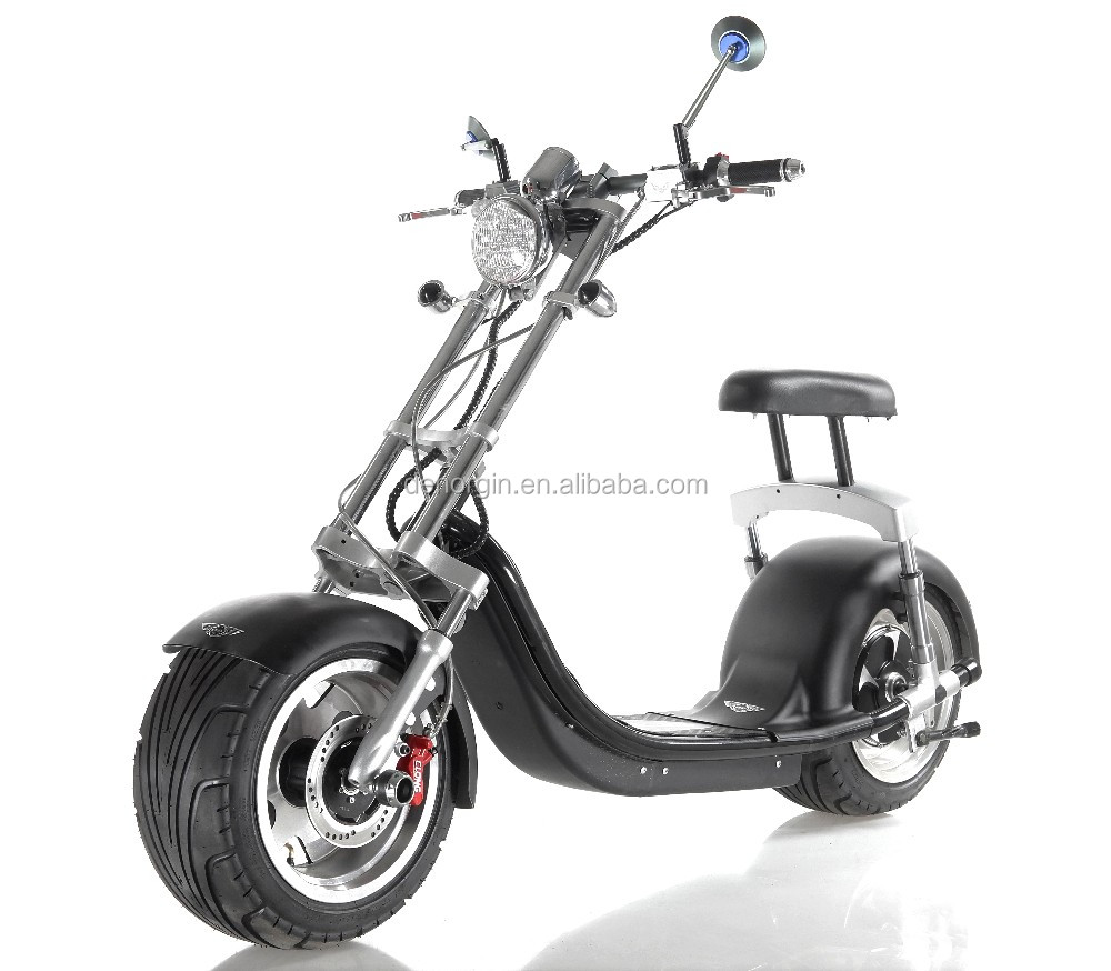 2017 Hot Selling EEC electric motorcycle 1000w 1500w adult electric chopper bike 60v citycoco electric scooter
