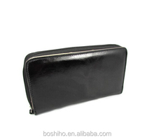 custom wholesale organ style leather organizer coupon wallet