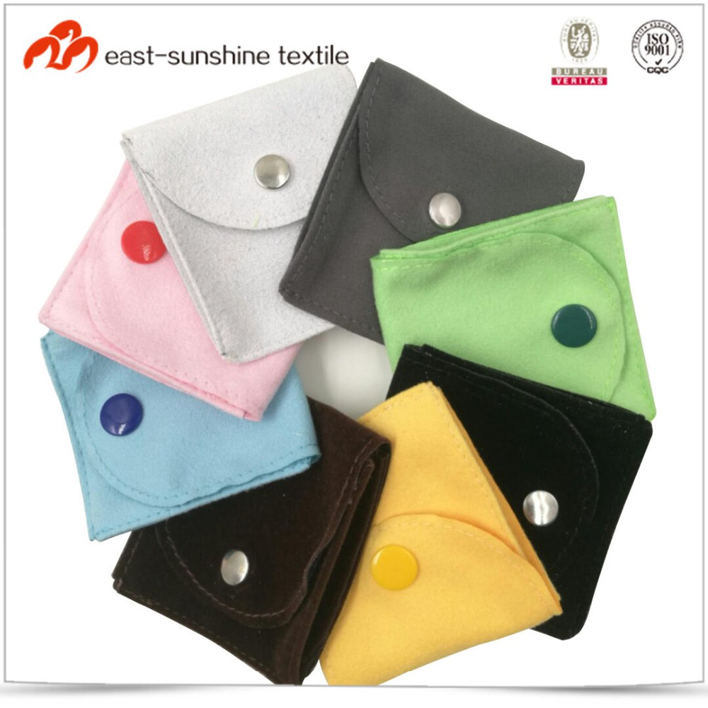 Various colors mini jewelry pouch bag with button
