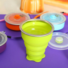 Collapsible silicone cheap coffee cups with lid