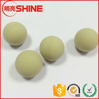 customized solid natural /NBR/neoprene rubber 6mm 8mm 10mm rubber coated steel ball or solid rubber ball