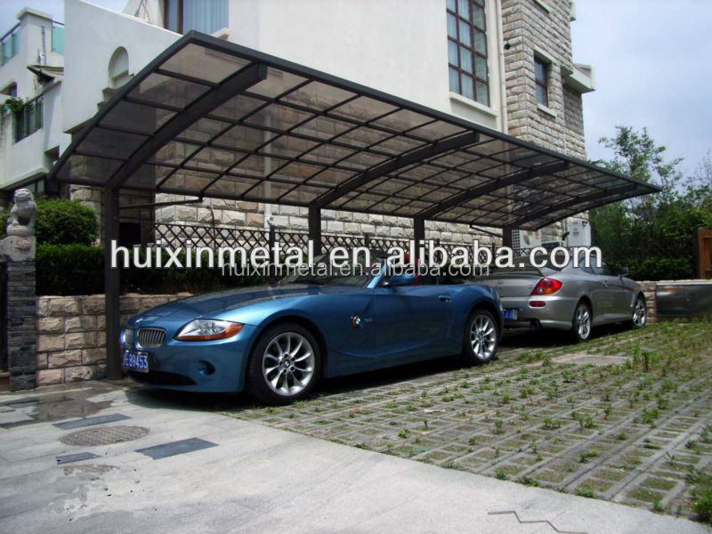 High stability polycarbonate aluminum car parking canopy