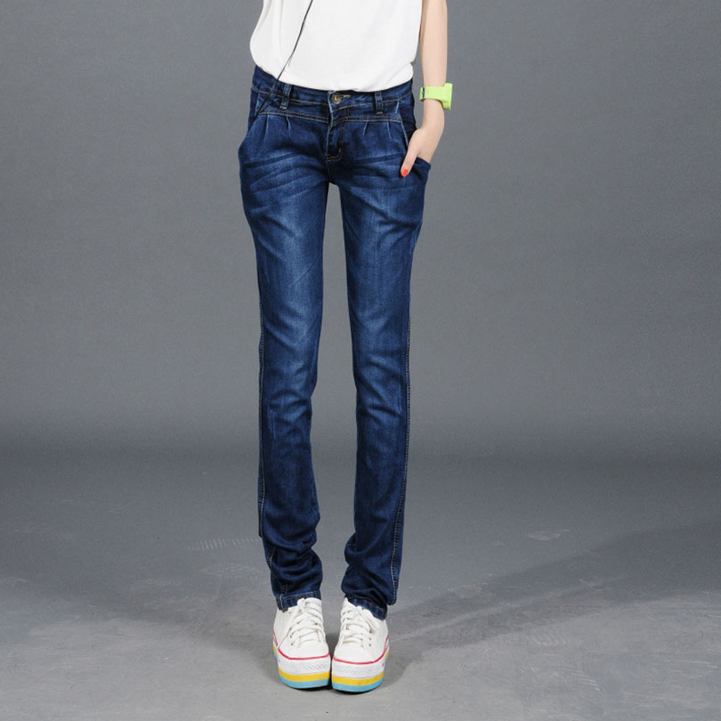 wholesale fashion women casual slim wash jeans