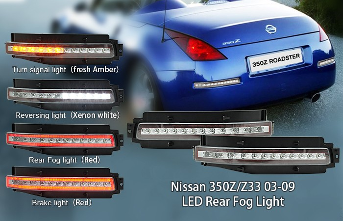 China supplier 350z LED parts, rear fog light, Brake Light whole Assembly For 2003-2009 Ni. ssan 350Z