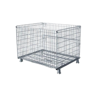 Promotional Supermarket Industrial Large Bulk Galvanized Storage Metal Wire Mesh Basket