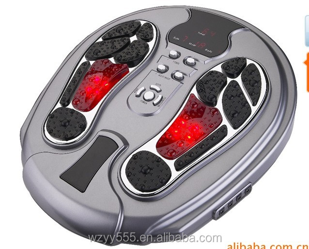 Infrared blood circulation electric pulse foot massager with Infrared Light and Remote control