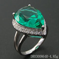 Dancing Gifts Green Spinel Ring 925 Silver Jewelry DR0300864R