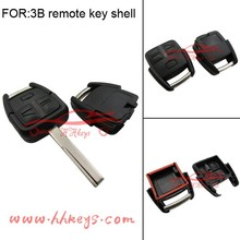 Auto replacement 2 button remote car key with HU43 blank uncut key blade fit for Opel car