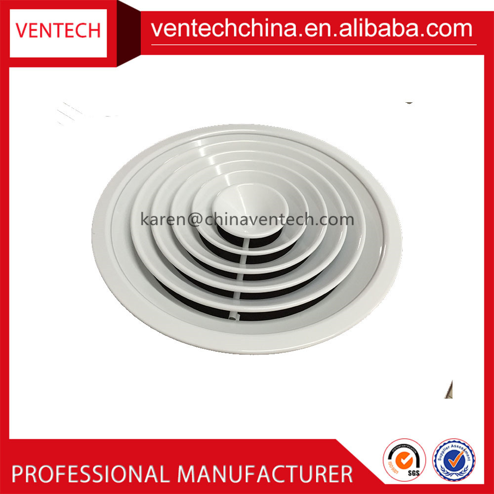 Aluminium louver Floor vent cover round ceiling diffuser air conditioning diffuser
