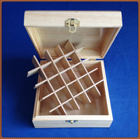 2015 top grade latest design handmade decorative wooden essential oil packing box