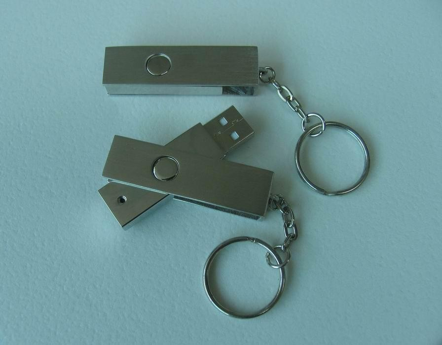 simple metal usb flash drive shell with keyring