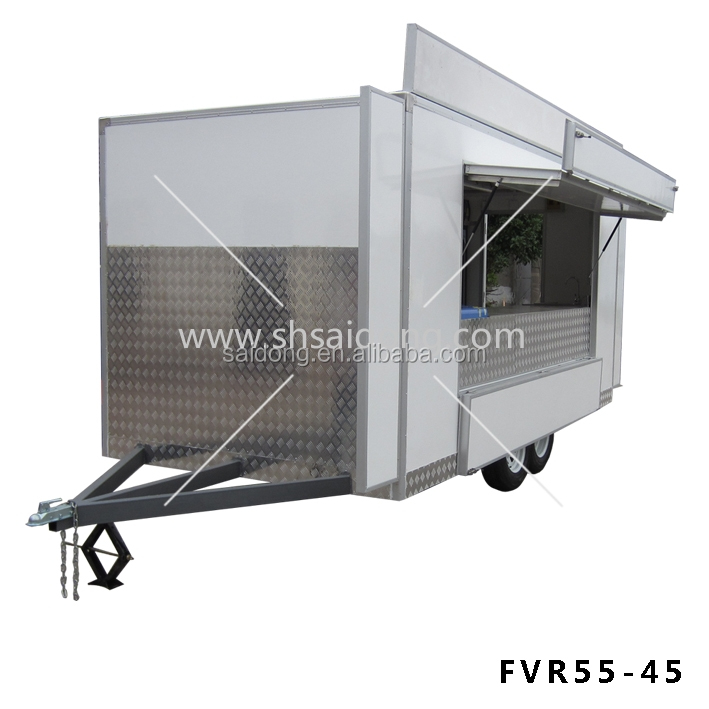 Shanghai food trailer,mobile kitchen trailer for design