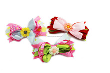 Kids bow hair clip barrette - colorful hair accessories with bow for kids