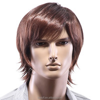 new fashion in Europe and America male wig hair Brown short wig for Men