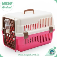 644 Taiwan design Pet product,Dog Cat Traveler Transport Cage,3coior Plastic pet carrier