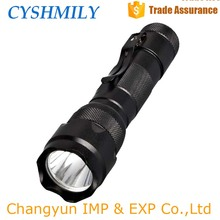 CYSHMILY Aluminum Long Range Waterproof q5 18650 Security Multi-function Rechargable Led Police Flashlight