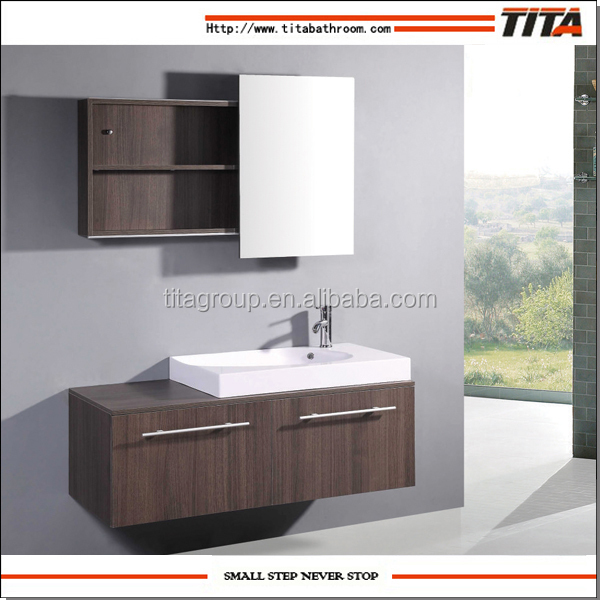 Yato Solid Wood PVC Bathroom Wash Basin Cabinet Set