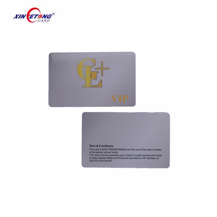 Hotel personal information plastic card