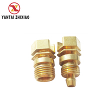 Cnc Brass Lathe Turning Machine Mechanical Parts Precision Turned Brass Parts