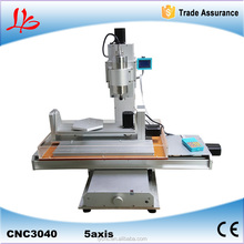 5 axis cnc router 3040 with high quality pillar type metal engraving machine