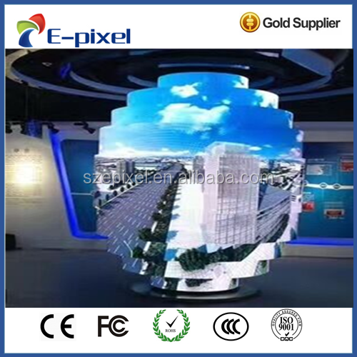 HD Creative soft rubber P3 P4 P6 P10 Flexible LED Display Screen price for indoor media advertising